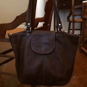 J Jill Pebble Leather Tote